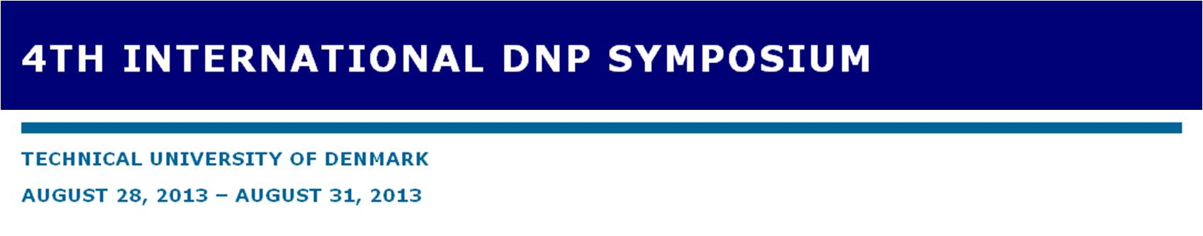 Poster presentation at 4th International DNP Symposium