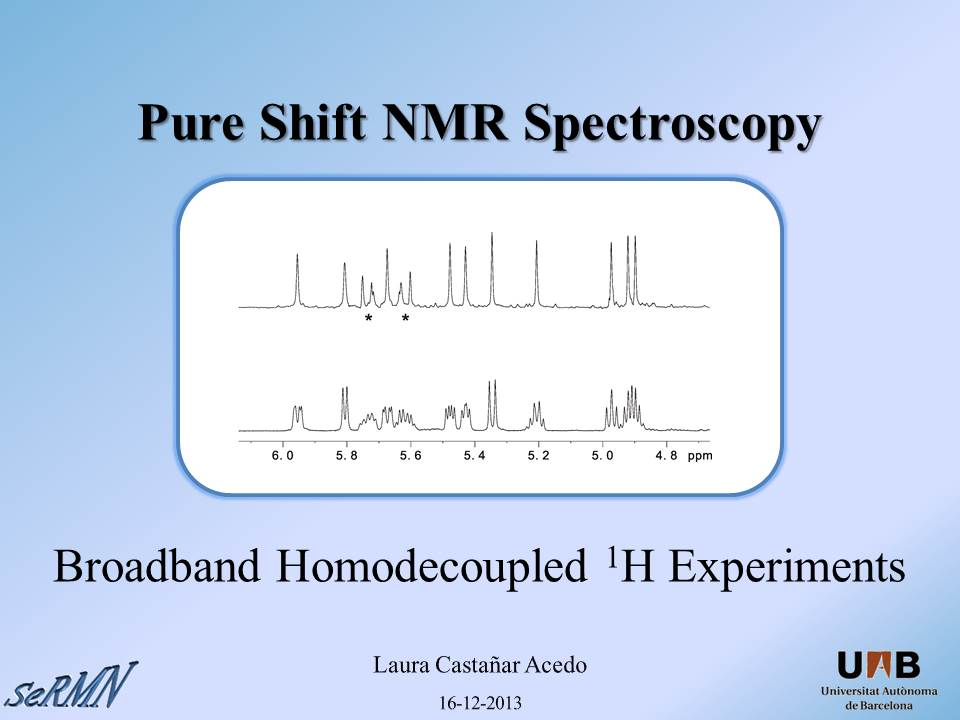 Pure Shift NMR & HOBS Experiments