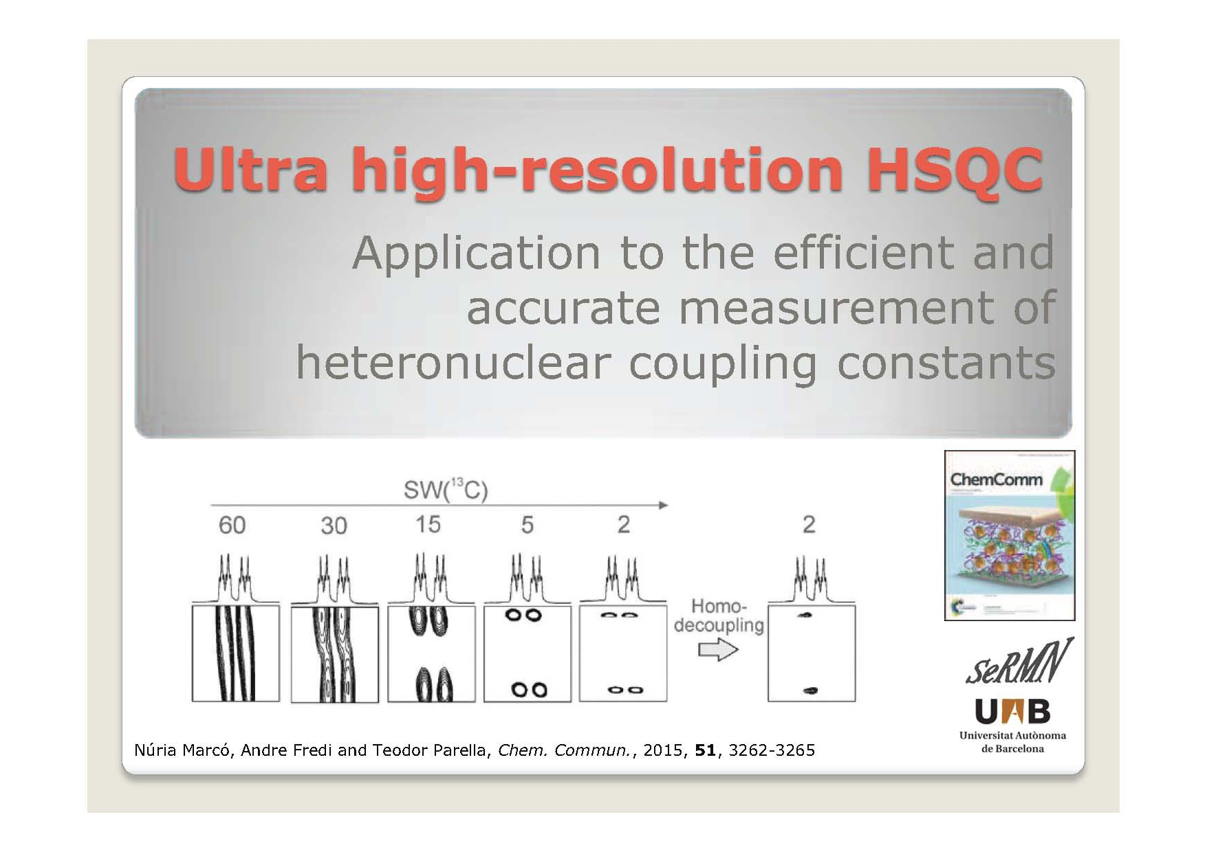 Ultra high-resolution HSQC
