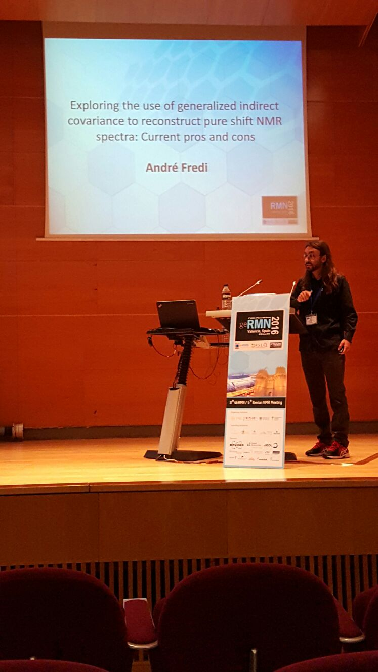 André Fredi's oral presentation at 8th GERMN / 5th Iberian NMR Meeting